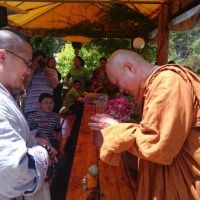9 Jan 2016 Ven. Shi Yan Jing and the Shaolin Temple friends visited Sunnataram Forest Monastery